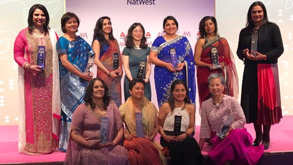 Manisha nair receives asian women of achievement award