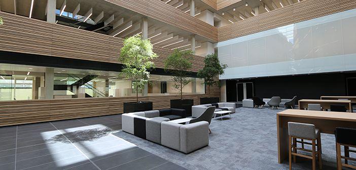 Atrium of Big Data Institute building, Oxford University