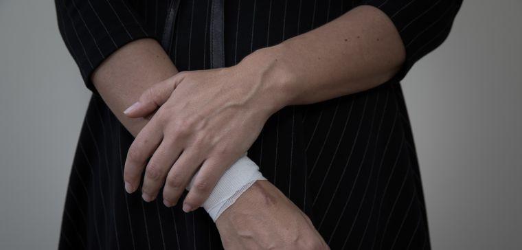 photo of bandaged wrist