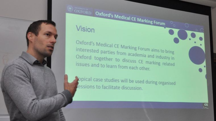 Oxford Medical CE marking Forum aims to to serve as a knowledge exchange portal for interested academic and industry partners within Oxford.