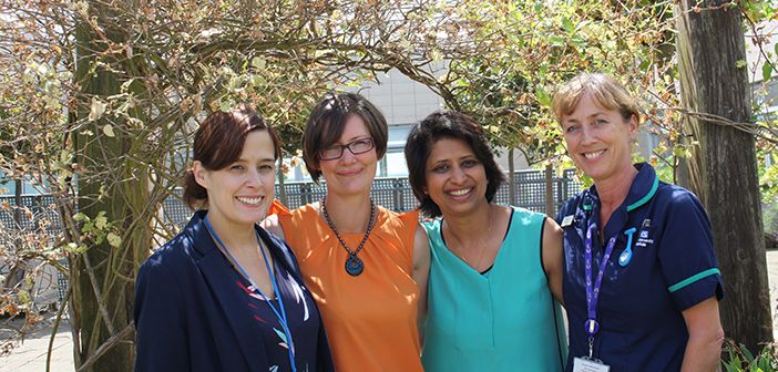 From L-R: Dr Clare Verrill, Mrs Gemma Marsden, Ms Pankaj Gupta Roy and Ms Jane Niederer