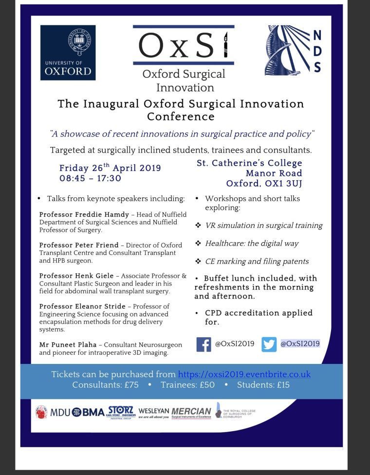 The Inaugural Oxford Surgical Innovation Conference