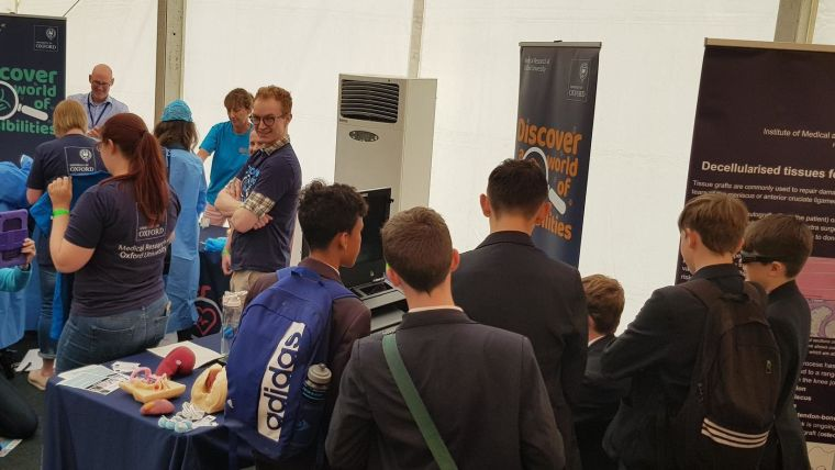 Engaging with scientists and surgeons of the future at cheltenham science festival