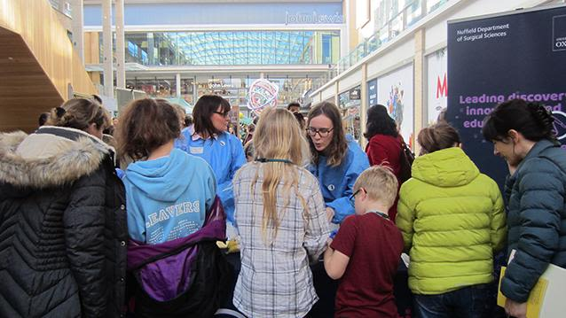 During this year's IF Oxford Science + Ideas Festival, a NDS team of outreach volunteers spent a fun weekend stimulating young minds with a range of family-friendly activities.