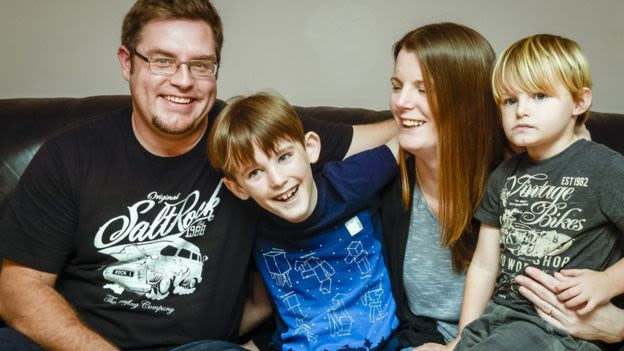 Nathan Crawford (centre) the first boy in the UK to have an operation (by NHS and Oxford University medics) to preserve some of his testicular tissue, with the hope he can have children later in life.