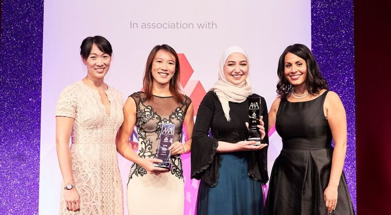Dr jenny tran second left won in the young achiever category