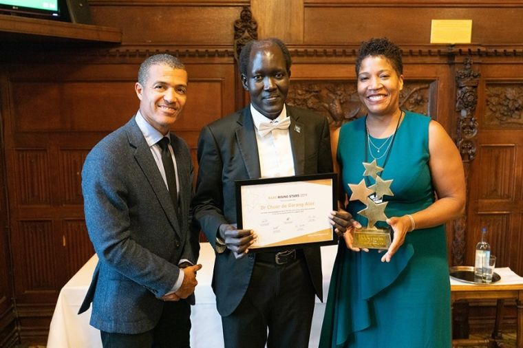 Congratulations to Dr Chuor de Garang Alier - crowned winner of the 2019 Rare Rising Star Awards!  The awards celebrate the academic achievements of the UK's 10 'best' African and Caribbean students. Chuor is our MSc in Clinical Embryology student and he won for his work on challenging the stigma around female infertility. (Photo credit: Leo Hoang).
