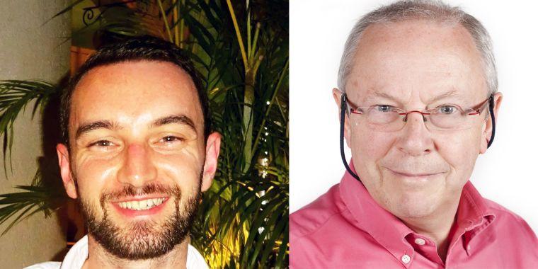 Nathan Davies (left) and Steve Iliffe