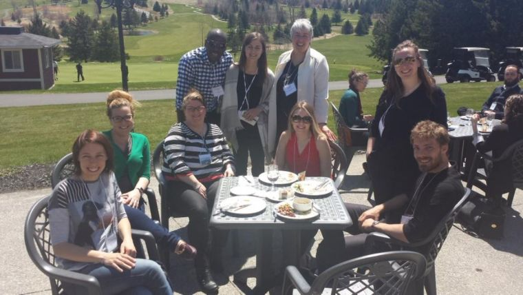The sun came out on the final day during a great seminar on how to effectively involve patients in research, so we took the opportunity for a trainee photograph.
