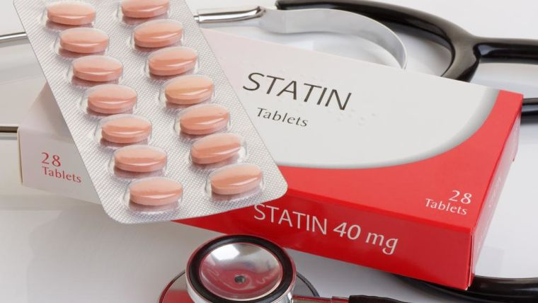 A box of statin tablets.