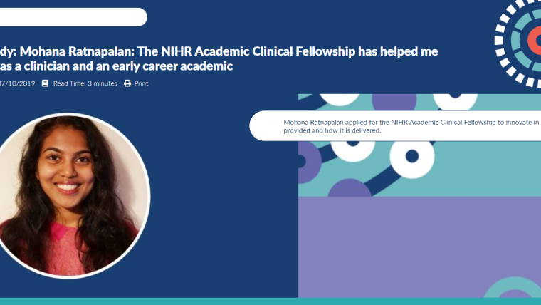 How the nihr acf has helped me develop as a clinician and ecr