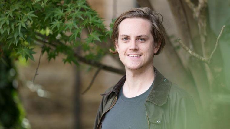 Outdoor portrait of Joshua Bauermeister.
