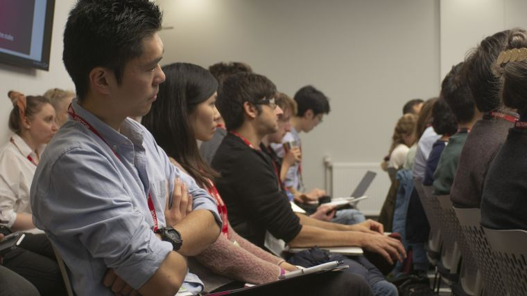 Attendees hear from cohort experts at the DPUK datathon in Swansea
