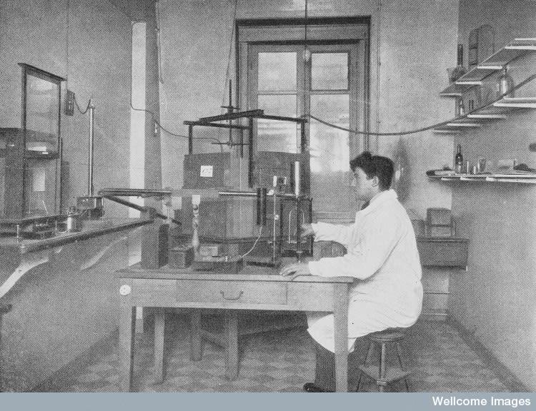The room for preparing Radon at the Radium Institute, Paris. Radio-Physiological Lab.