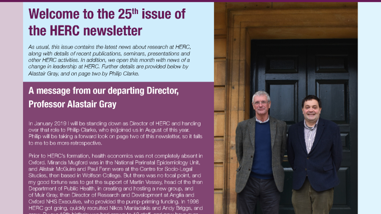 Herc newsletter issue 25 out now