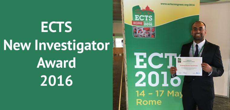 Ects award pradeep