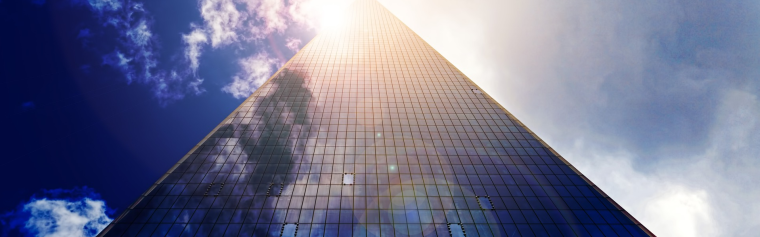 A tall skyscraper