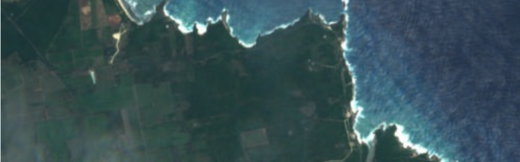 A satellite image from the Planetary Response Network