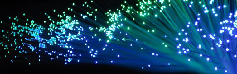 A bunch of optical fibres