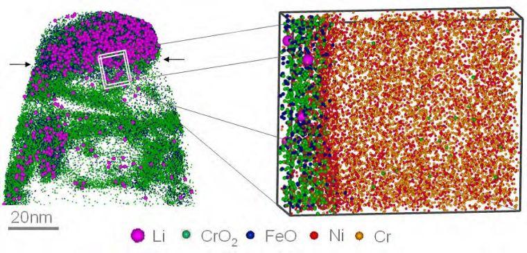 Scanning image taken by the Atom Probe