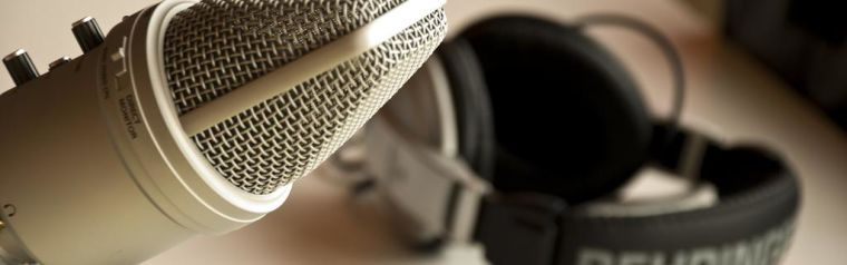 A microphone and recorder