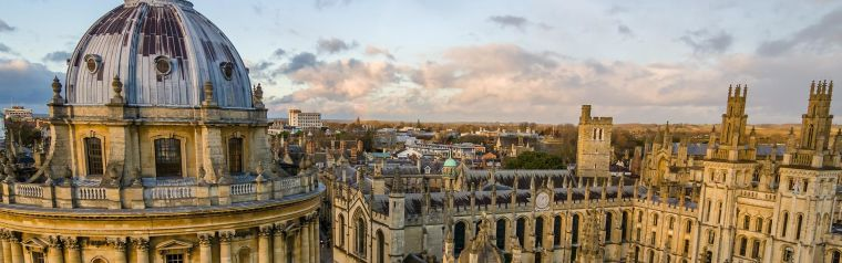 View of the Radcliffe Camera and Oxford colleges