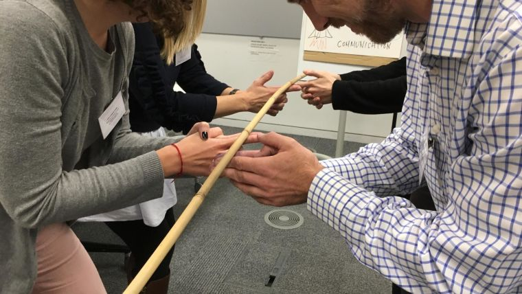 Participants taking part in a training activity