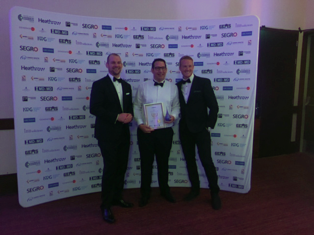 The CyberHive team receiving their award