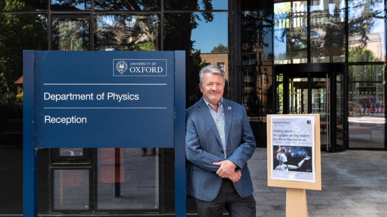 The president of the seti institute visits oxford to discuss collaboration with the university