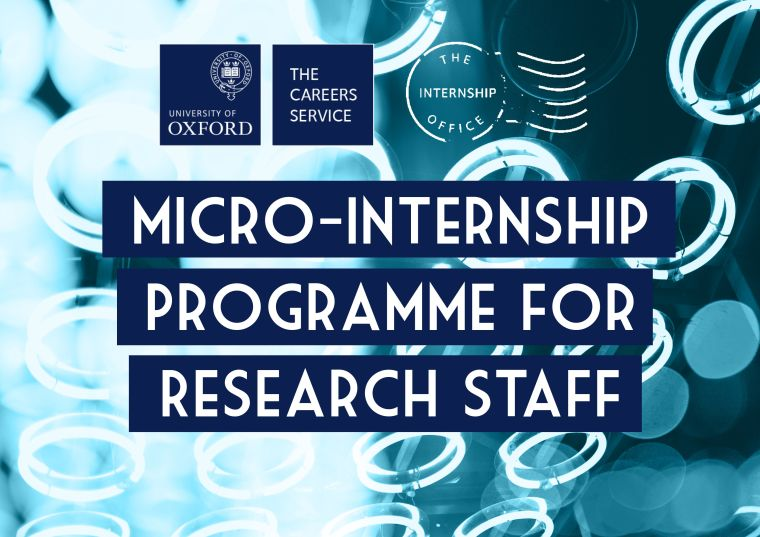 Micro Internship programme for research staff