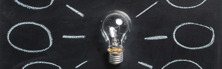 Image of a lightbulb representing the generation of ideas