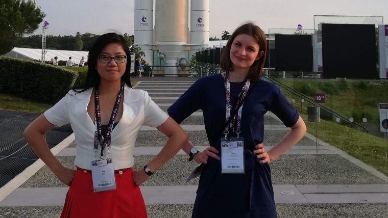 Amy Kao and Anna Jungbluth at the hackathon