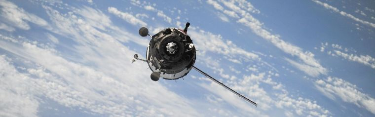 A satellite in space above the Earth