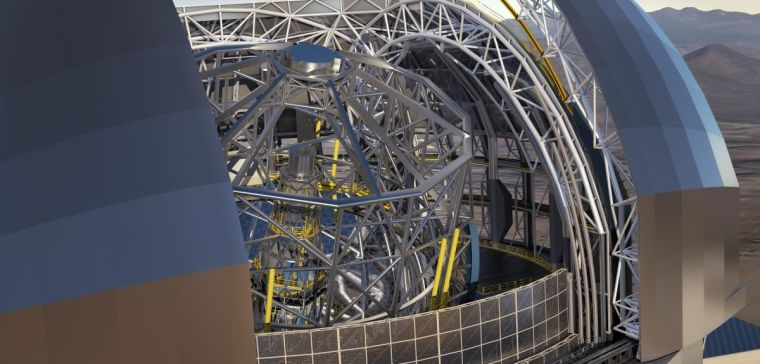A close-up of the inside of the Extremely Large Telescope