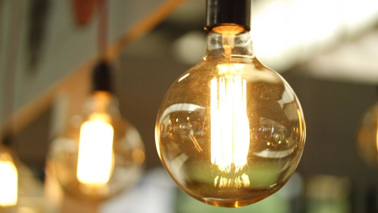 A lightbulb representing ideas