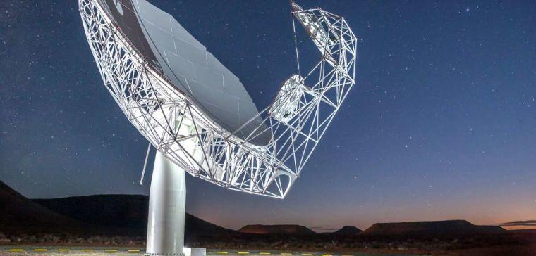 Artist's impression of the MeerKAT telescope