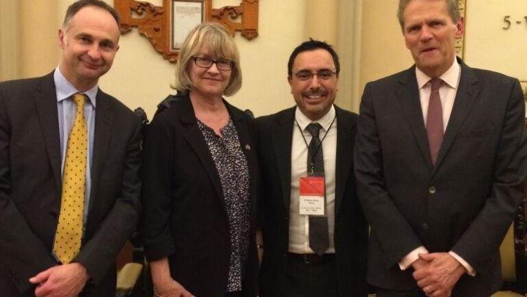 Arturo, GB Ambassador in Mexico, John Rushworth Taylor, and baroness Jane Bonham Carter