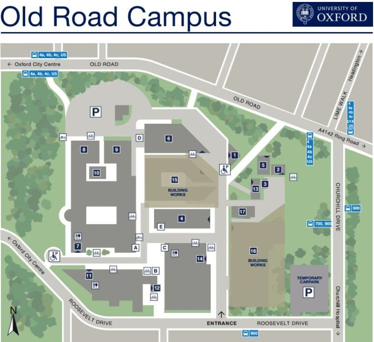 Old road campus map