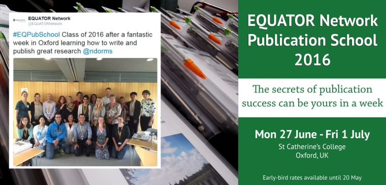 EQUATOR Publication School 2016 participants and details