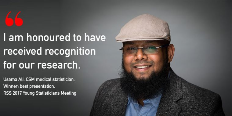 Usama ali wins rss young statisticians meeting best presentation