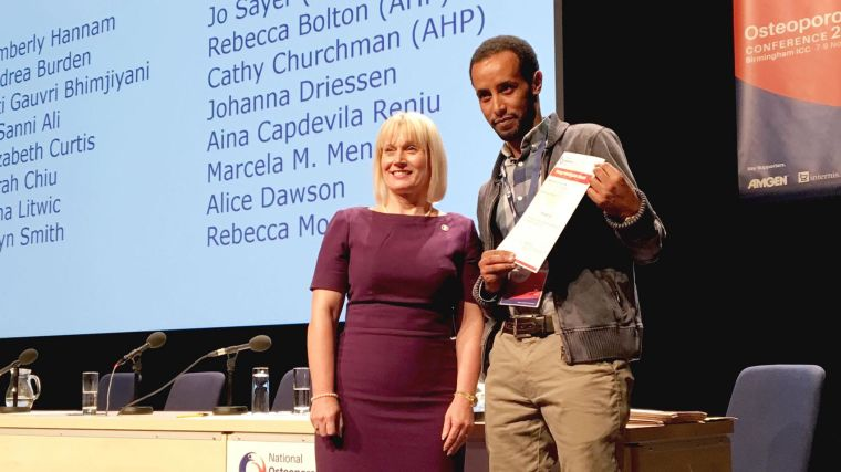 Award to m sanni ali for work on bone fragility in diabetic patients