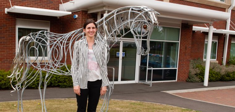 Arthritis Research UK intern outside the Botnar Research Centre