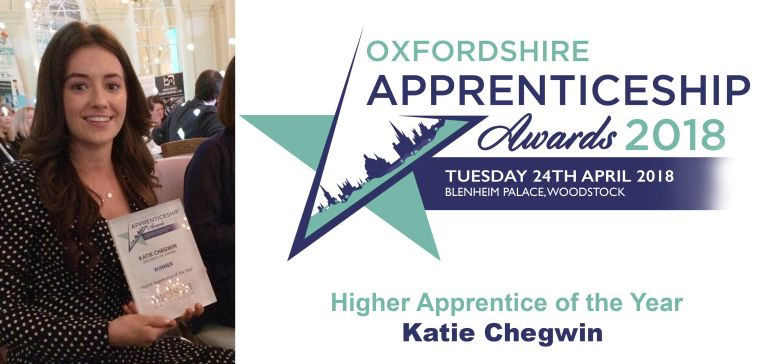 Katie Chegwin Apprentice of the Year Awards