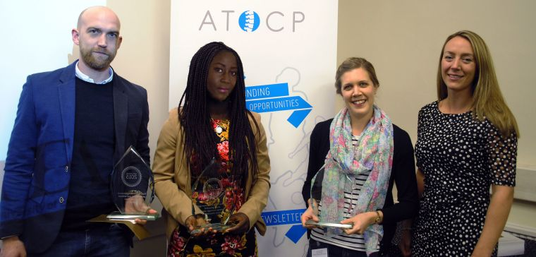 Jacqueline Thompson (second from left) receiving her award