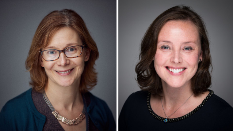 Portrait of Fiona Watt and Stephanie Dakin