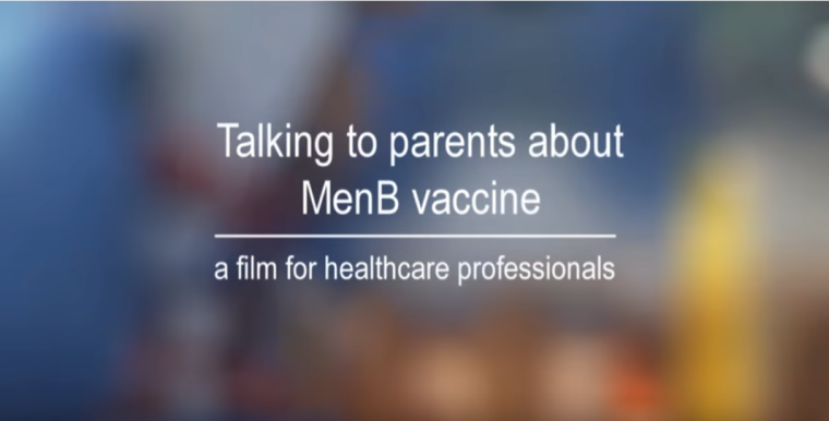 Talking to parents about menb vaccine a film for healthcare professionals
