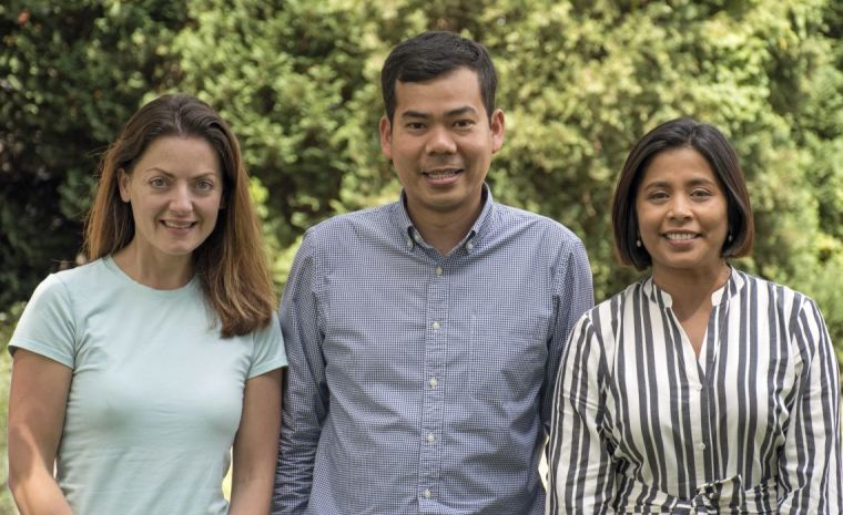 Prof Andi Roy (right) with colleagues Dr Beth Psaila and Dr Supat Thongjuea