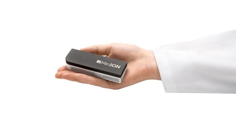 The MinION is the smallest high-throughput DNA-sequencing device currently available