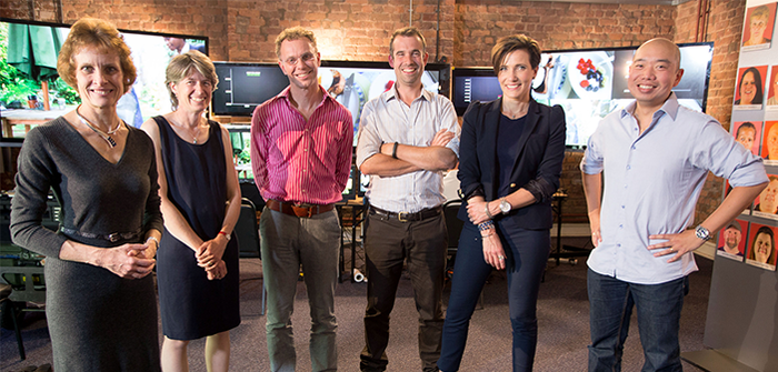Left to right: Susan Jebb, Fiona Gribble, Paul Aveyard, Chris Van Tulleken, Tanya Byron and Giles Yeo.