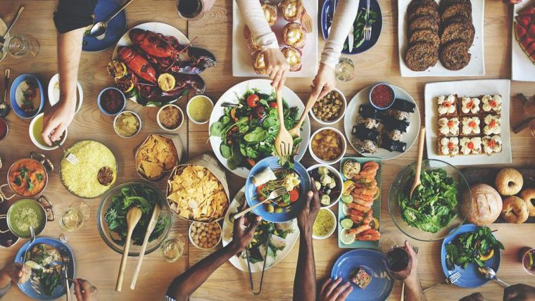 A table of food